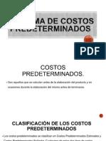Sistema de Costos Predeterminados