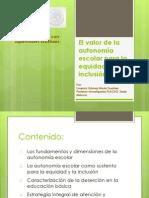 El valor de la autonomia para la equidad e inclusión. SEP-FLACSO. Mexico
