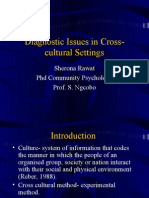 Diagnostic Issues in Cross-Cultural Settings