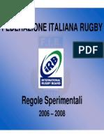 Rugby regole sperimentali