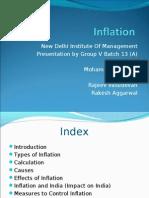 New Delhi Institute of Management Presentation by Group v Batch(INFLATION)
