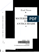 Os Materialistas Da Antiguidade Paul Nizan