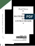 Os Materialistas Da Antiguidade Paul Nizan