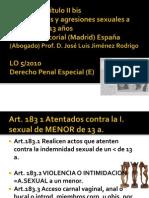 Sesión 7 delitos contra menores de 13a,prostitucion y corrupción José Luis Jiménez Rodrigo