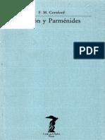 Cornford Francis Macdonald - Platon Y Parmenides