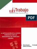 La Articulacion de La Oferta Formativa Con Las Necesidades Del Mercado Laboral