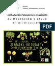 PRESENTACIÓN Y CALENDARIO JORNADAS CULTURALES