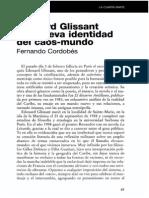 Edouard Glissant y La Nueva Identidad Del Caos Mundo