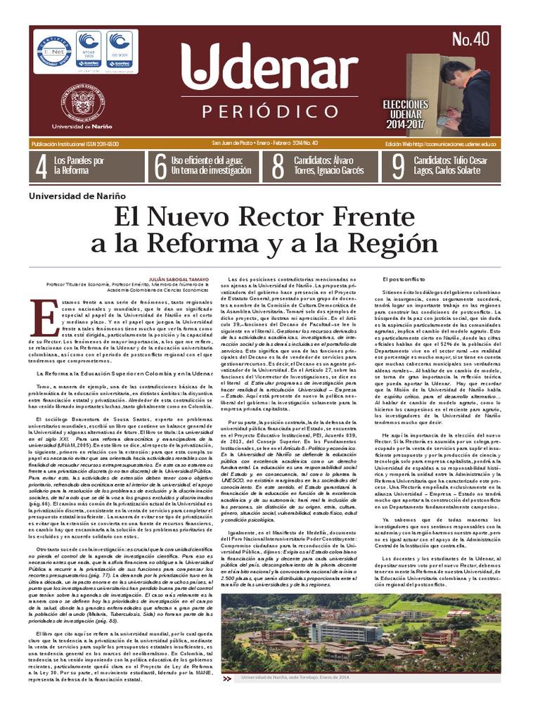 UDENAR PERIÓDICO EDICIÓN 40