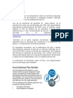 Software FDA Para Plan de Defensa de Los Alimentos