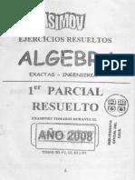 Álgebra CBC - Primer parcial resuelto(Asimov)