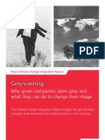 Climate Change Report 'Greywashing'