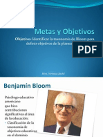 Objetivos y Metas (Benjamin-bloom)