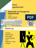 Diagnostik und Therapie der Hyponatriämie