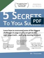 5 Secrets to Yoga Success - Yogacharya