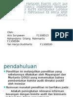 Analisis Pengaruh Komite Audit Dan Komisaris In Depend En Terhadap