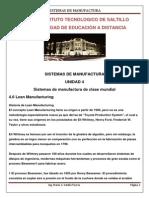 Sist. Manu. U4 4.6 Lean Manufacturing