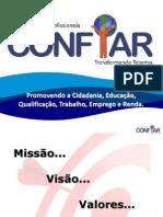 TREINAMENTO _CONFIAR_MISSÃO_VISÃO_VALORES