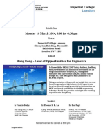 Hkie Uk Chapter - Hong Kong Land of Opportunities for Engineers Icl 10 0...