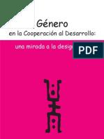 GéŽnero en la Cooperaci—ón al Desarrollo