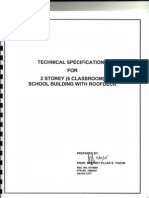 Technical Specs for Contractors for Two-storey 6 Cl. Rm. Building