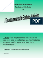 Ponencia Psicologia y Cancer
