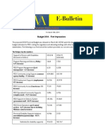 ADWA E-Bulletin for March 10th - Budget 2014 First Impressions