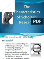 1.1.2 Scholarly Research
