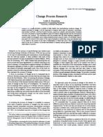 Change Process Research, Grenberg 1986