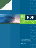 Brookings Review Natural Disasters 2012