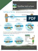 Slackline Instructions (Leaflet)