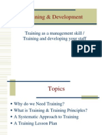 Training and Development INTRO