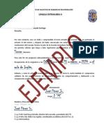 FORMATO  ejemplo DE SOLICITUD DE EXAMEN DE RECUPERACIÓN