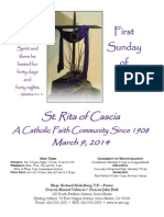 St. Rita Parish Bulletin 3/9/2014