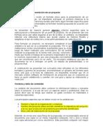 1.6.1 Formato de presentación de un proyecto