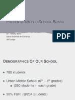 Presentation for School Board ppt