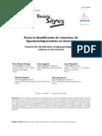 Hacia La Identificacion de Reacciones Hiponimia-hiperonimia en Internet