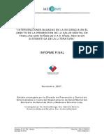 MINSAL - (2007) Intervenciones basadas en la evidencia en el ámbito de la promoción de la SM en familias con ñs de 0 a 6 años