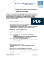 PERFILDEASPIRANTESALNIVELTECNOLoGICOSUPERIORPARATEORiAYLECTURAMUSICAL