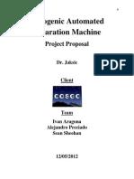 Proposal AutomatedCryogenic Separation