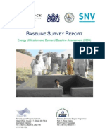 Energy Utilization and Demand Baseline Assessment 2009 Pakistan