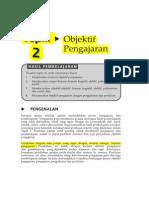 Topik 2 Objektif Pengajaran