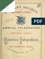 (1863) Celebration at Tammany Hall