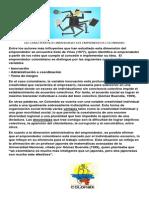 Características del emprendedor colombiano