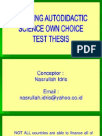 Learning Autodidactic Science Own Choice  Test Thesis
