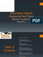 Manhattan Beach Real Estate Market Conditions - February 2014
