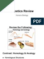 Honors Biology Genetics Review