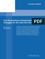Pharma Payer Relationship Strategies for Next Two Years