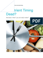 Precision Nutrition. Nutrient Timing