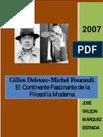 Gilles Deleuze-Michel Foucault. El Continente Fascinante de La Filosofia Moderna.-libre